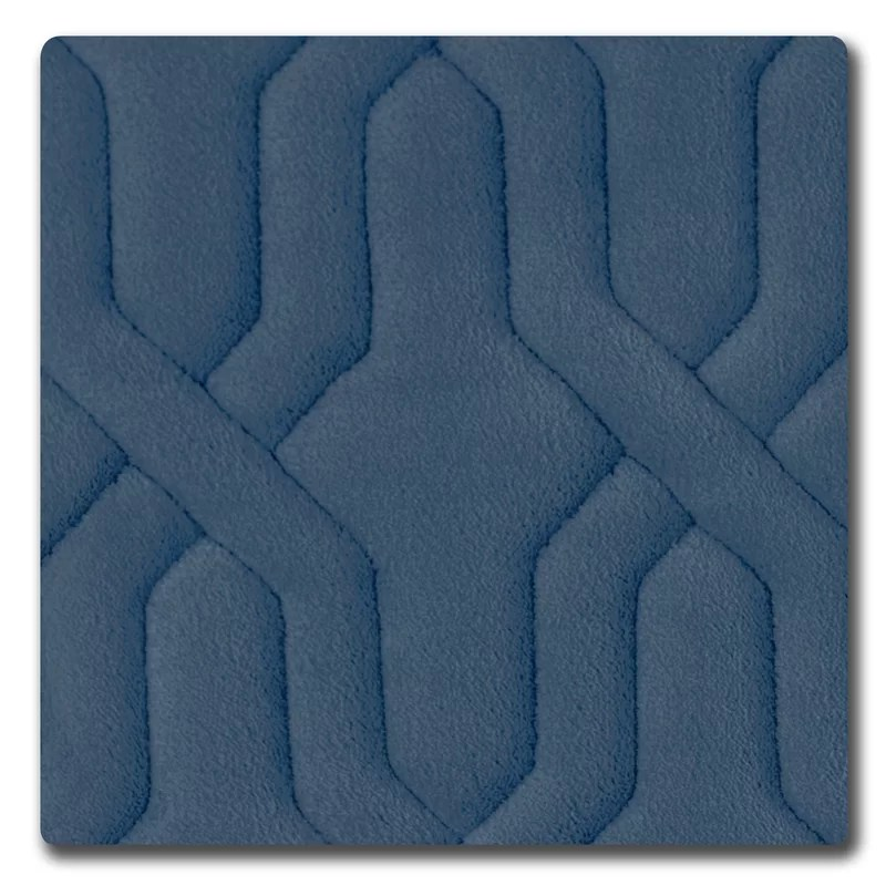 Drona Premium Micro Plush Memory Foam Bath Mat Size: 17 W x 24 L Color: Dusty Blue