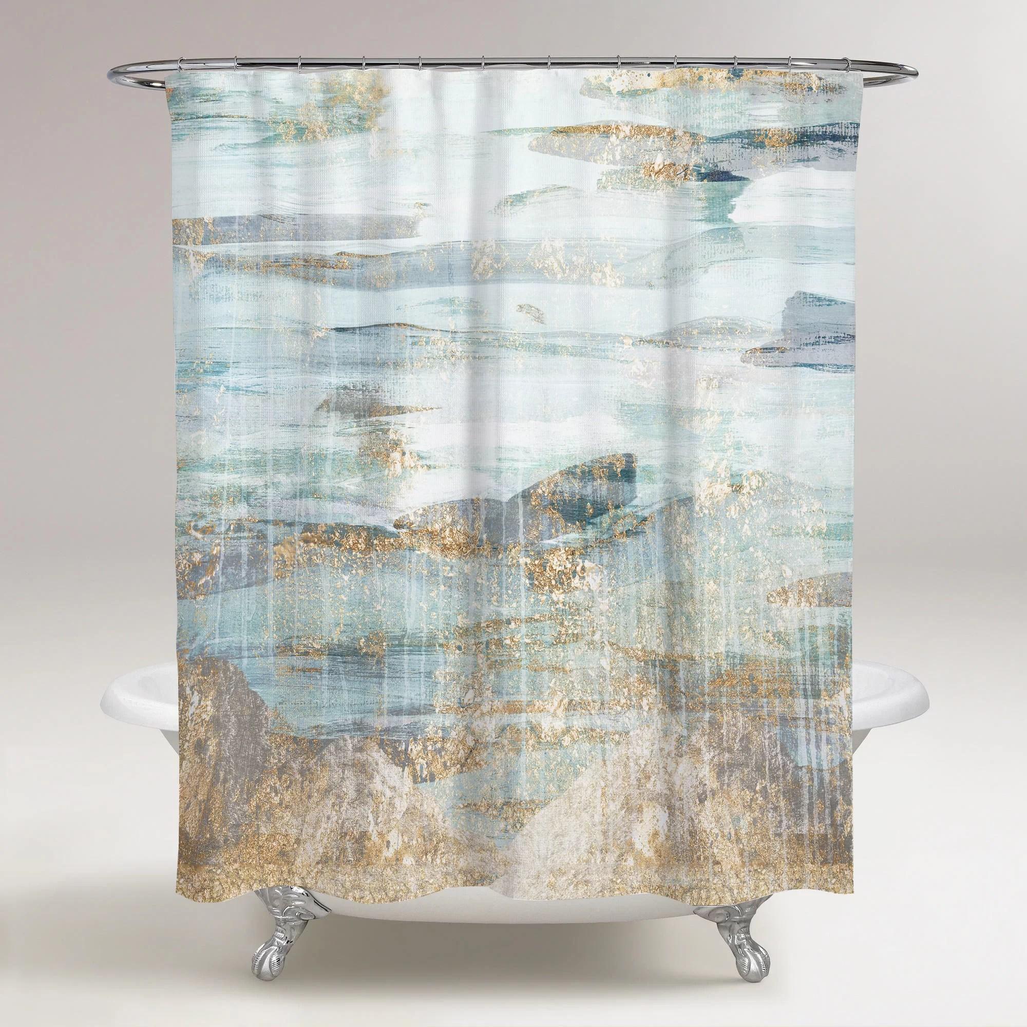 hartt love in teal single shower curtain