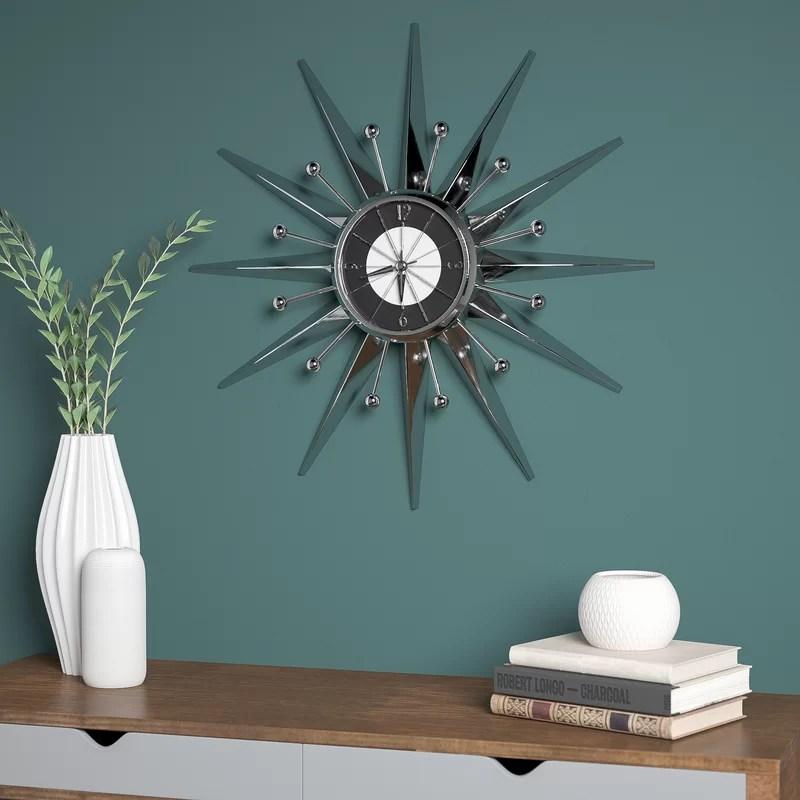 Oversized 23.5 Telechron Starburst Wall Clock