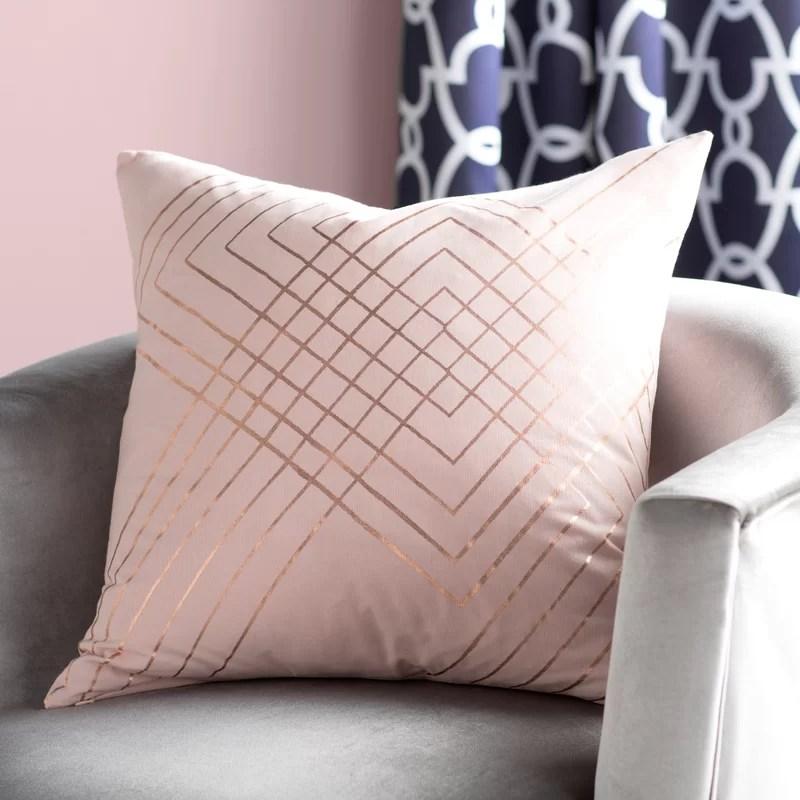 steele cotton throw pillow cover