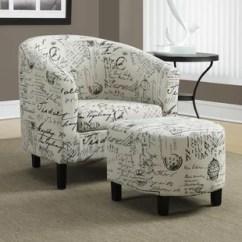 Black Chair And Ottoman Design Terms Wayfair Barrel