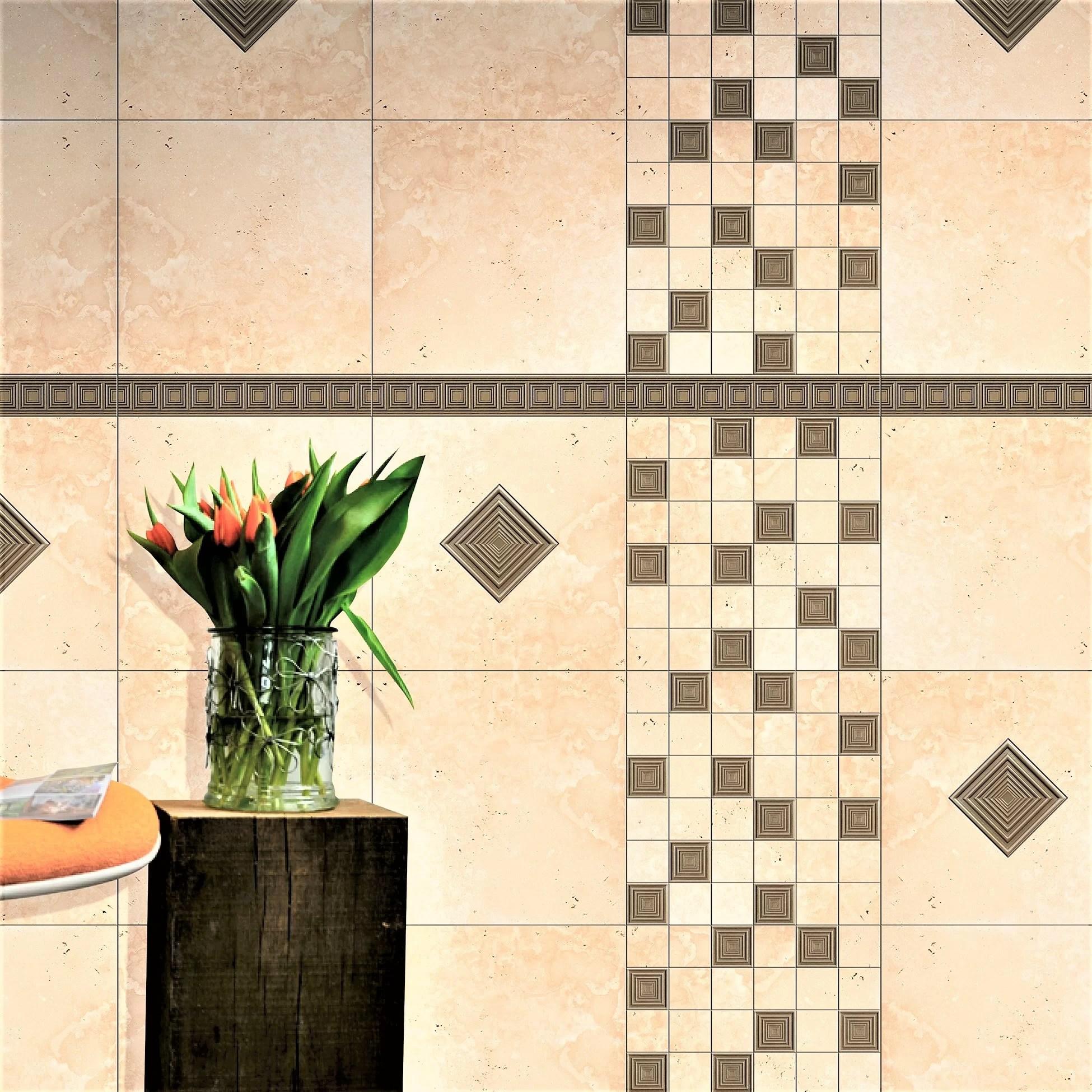 2 x 12 metal focus listello tile