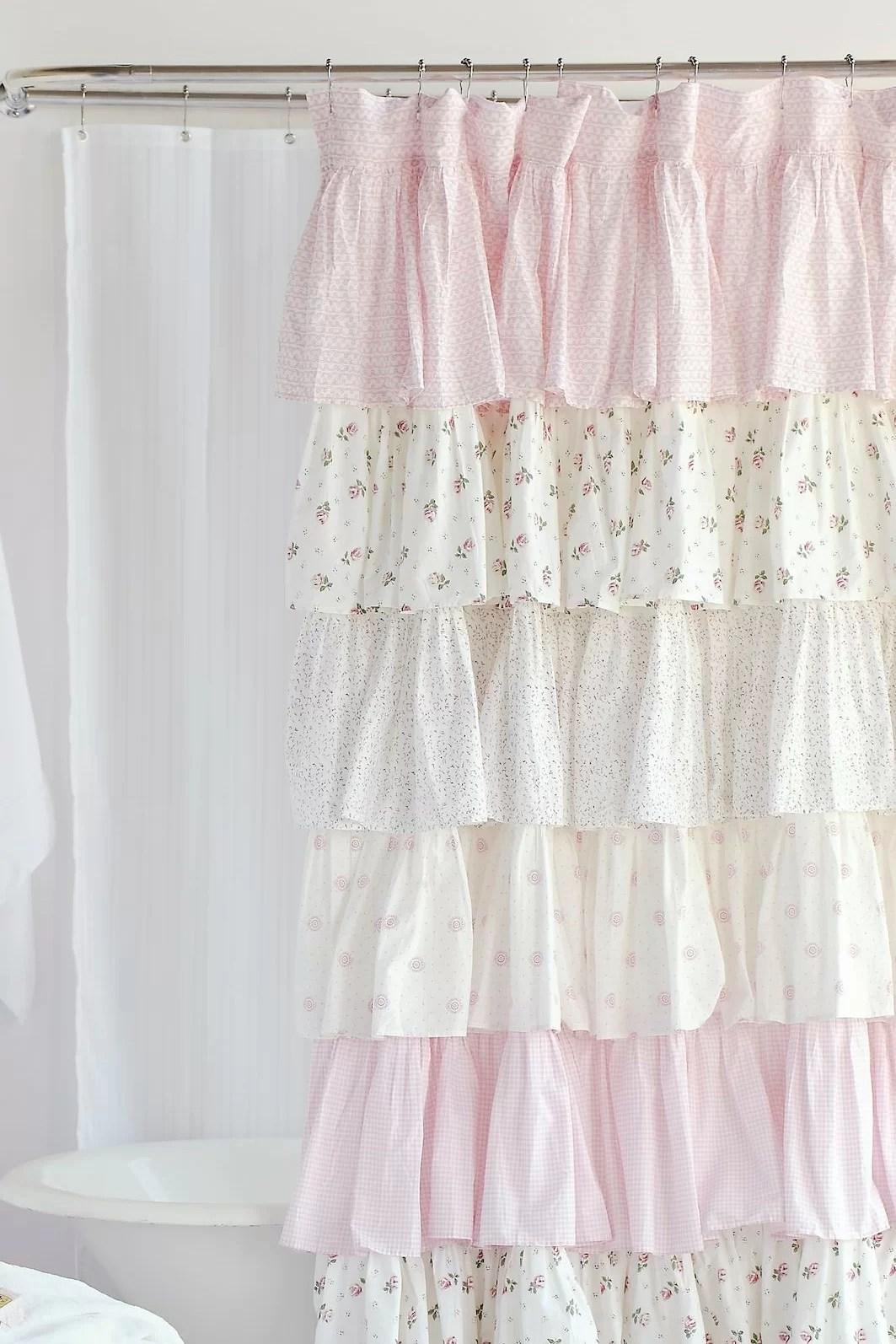 quinton 100 cotton floral single shower curtain