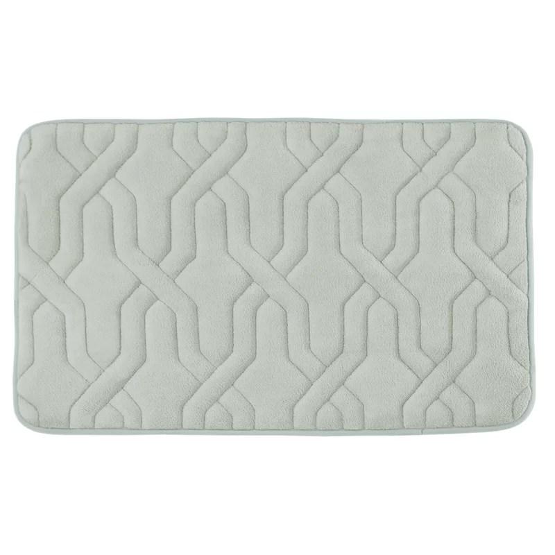 Drona Premium Micro Plush Memory Foam Bath Mat Size: 17 W x 24 L Color: Light Grey