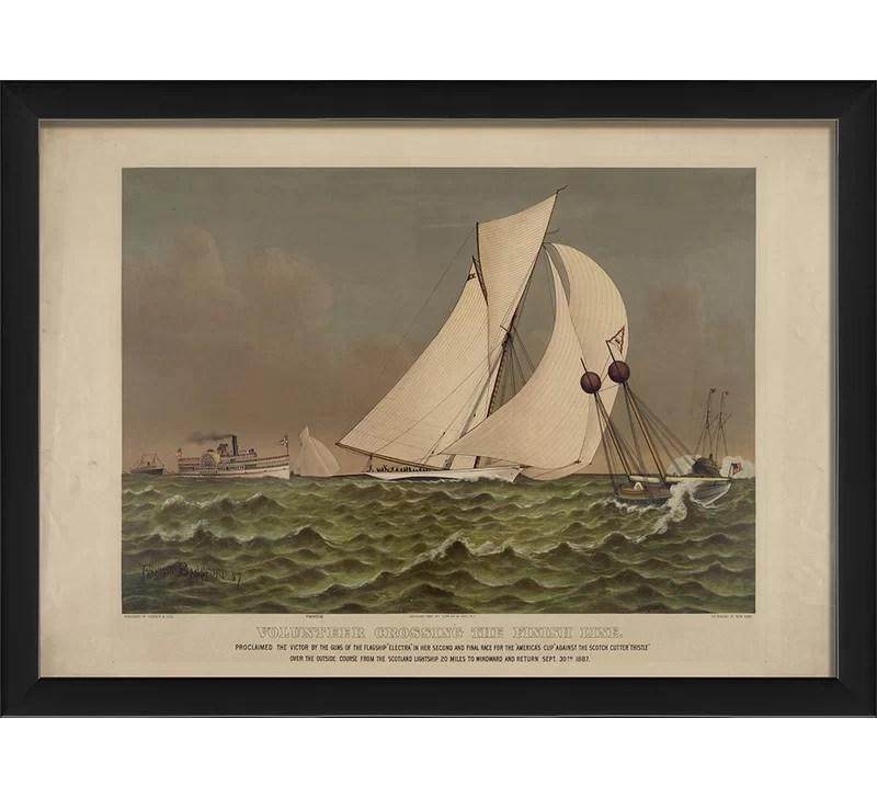 Volunteer Ship II Framed Graphic Art