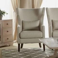 Traditional Wingback Chair Webbed Aluminum Folding Chairs Demaris Reviews Birch Lane