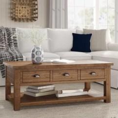 Living Room Table With Storage Console For Birch Lane Coffee Wayfair Seneca