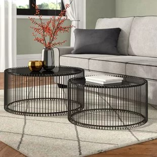 wire 2 piece coffee table set