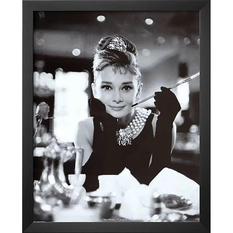 audrey hepburn breakfast at tiffany s movie poster framed photographic print