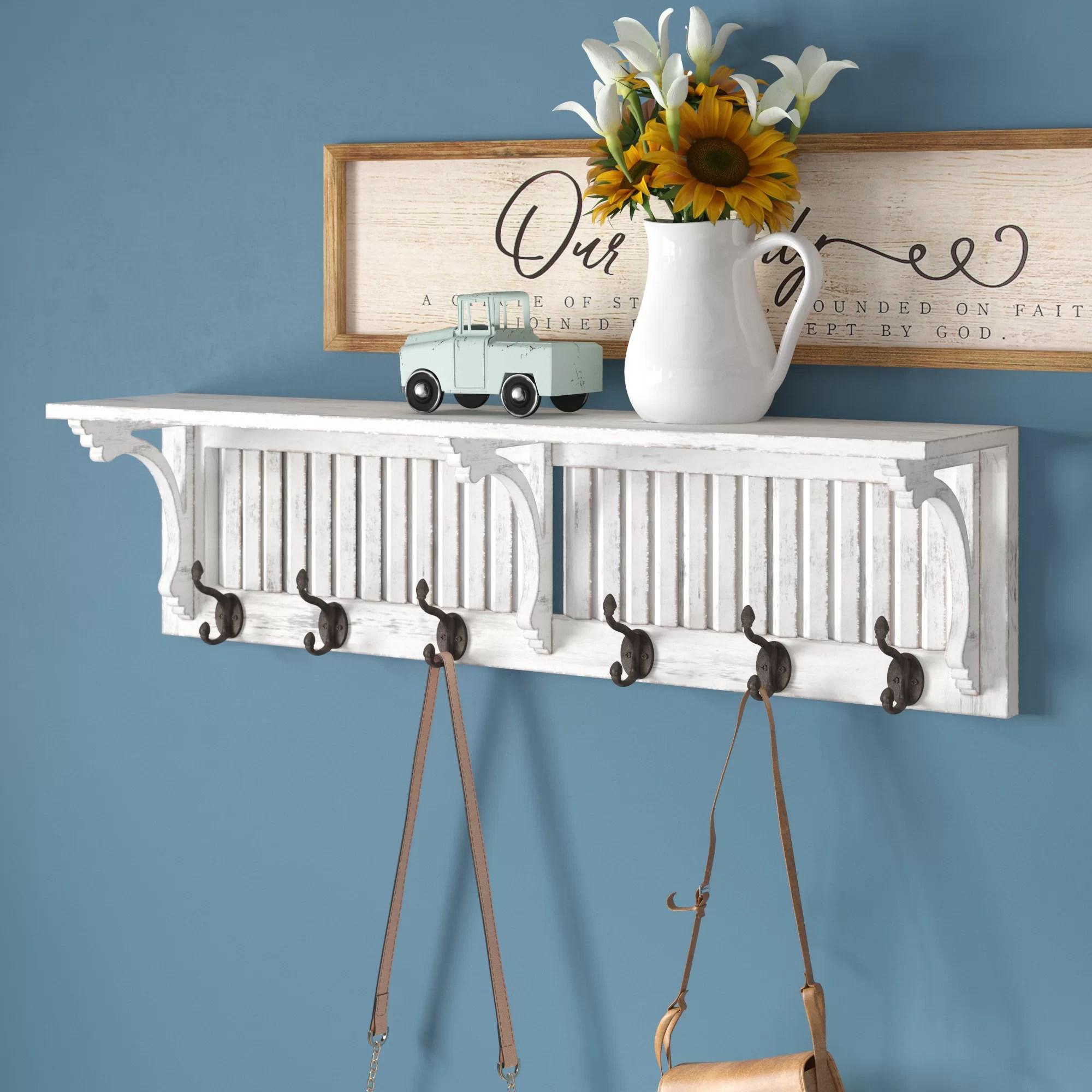 vassilieva shelf wall mounted coat rack