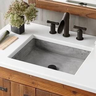 stone handmade rectangular vessel bathroom sink