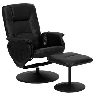 massage chair with heat fuf cover heated chairs you ll love wayfair leather ottoman