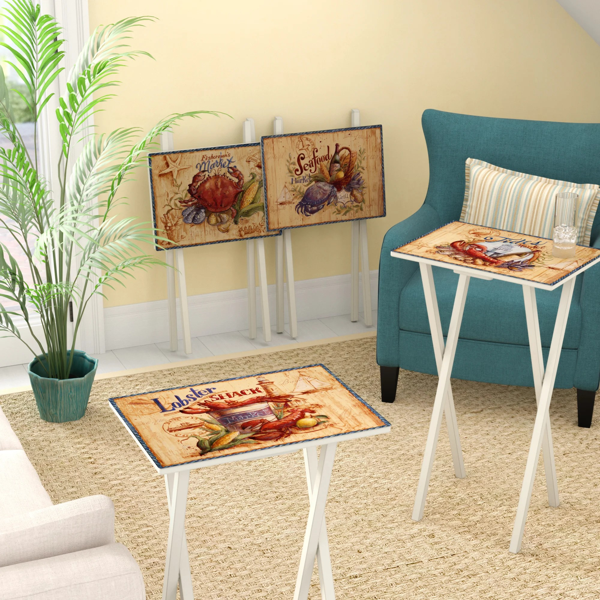coastal tv trays you ll love in 2021