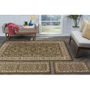 living room rug sets sideboard for 4 piece area set wayfair larios 3 green