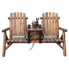 Double Rocking Adirondack Chair Plans Outdoor Covers Amazon Bench Wayfair Gwen Solid Wood With Table