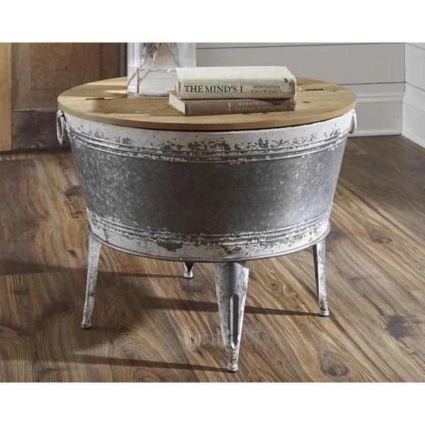 galvanized metal coffee table