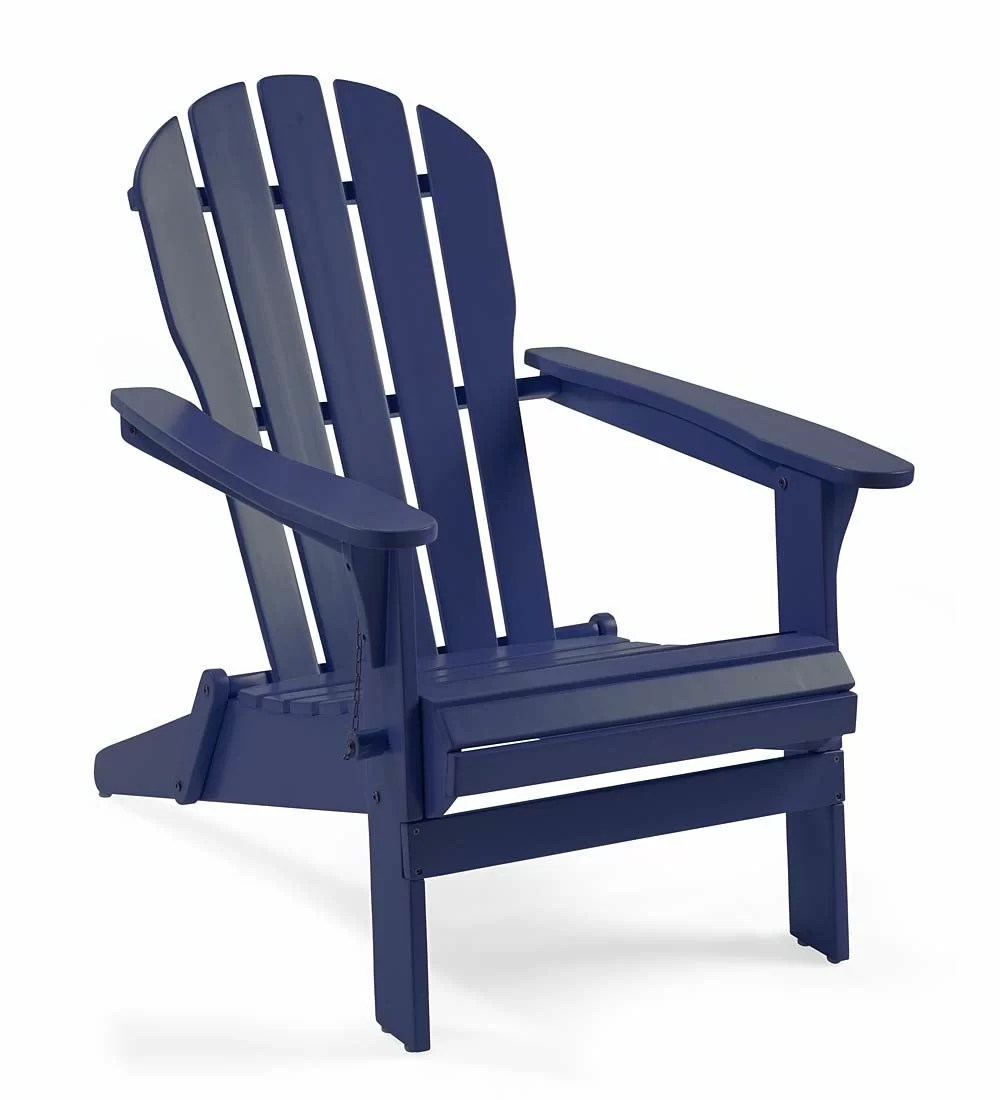 adirondack chair wood swivel and footstool plow hearth reviews wayfair