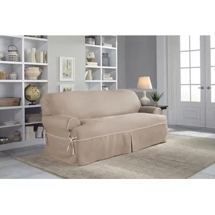 luxe 2 seat sofa slipcover sets online india slipcovers you ll love wayfair twill t cushion
