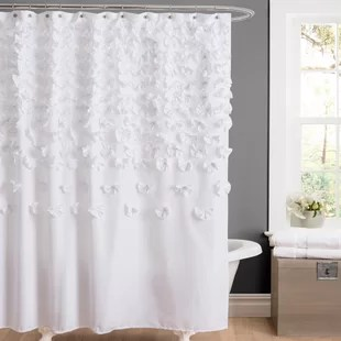 rieke polyester floral single shower curtain