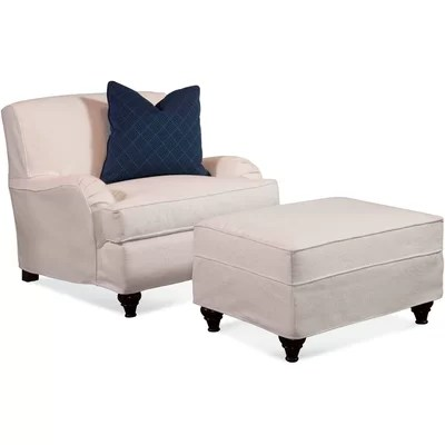 armchair and ottoman slipcover set calusa mesh mid back chair professional sale 32c1b 565bb authorized site b8273 0b8b0 crown estate t cushion