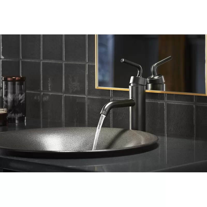 purist single handle bathroom sink faucet with straight lever handle