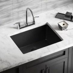 Black Sink Kitchen Natural Wood Cabinets Composite Wayfair Quickview
