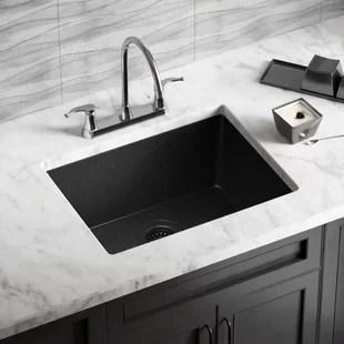 black sink kitchen best backsplash composite wayfair quickview