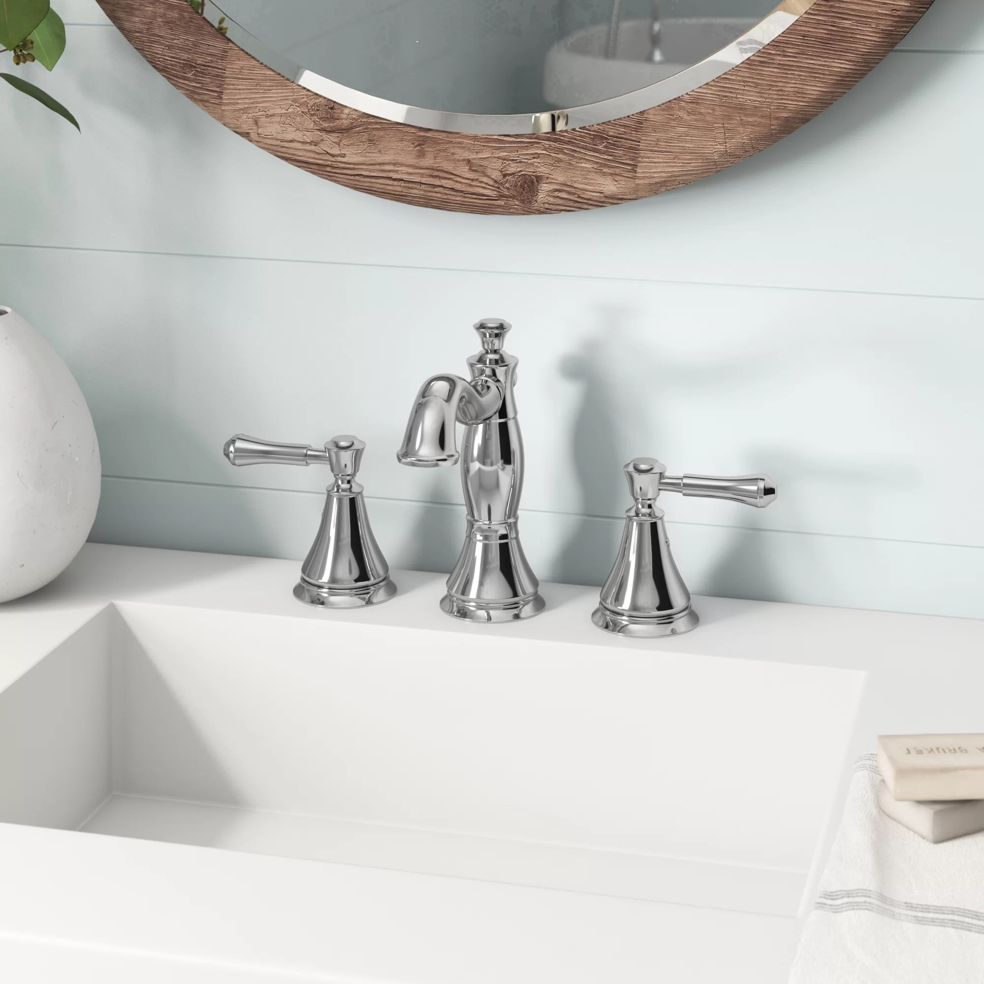 cassidy deck widespread bathroom faucet with drain assembly