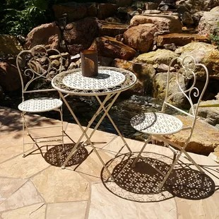 outdoor french bistro chairs swing chair lowest price wayfair marseille 3 piece dining set