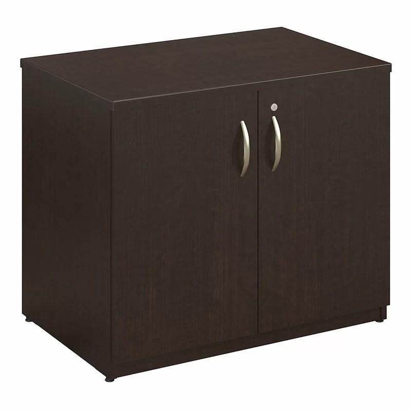 Series C Elite 2 Door Storage Cabinet Color: Mocha Cherry