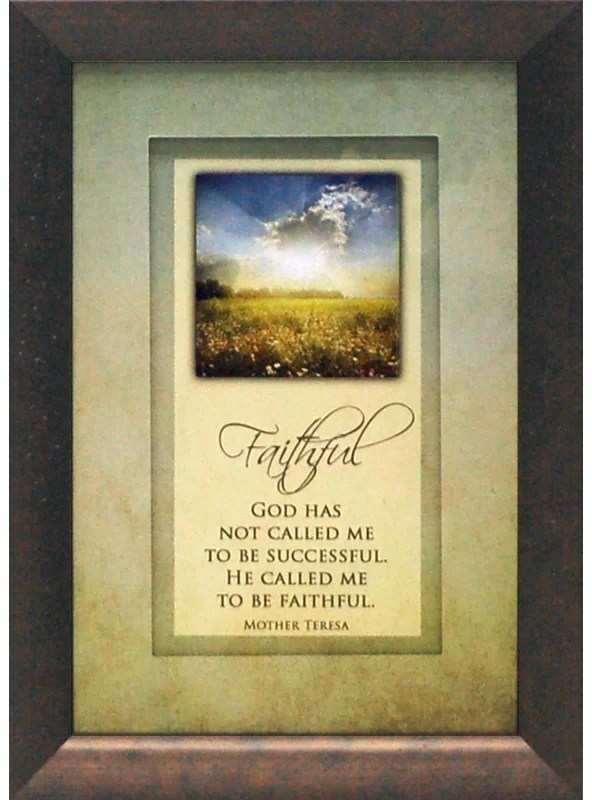 God Has Not Called Me To Be Successful by Brett West Framed Graphic Art