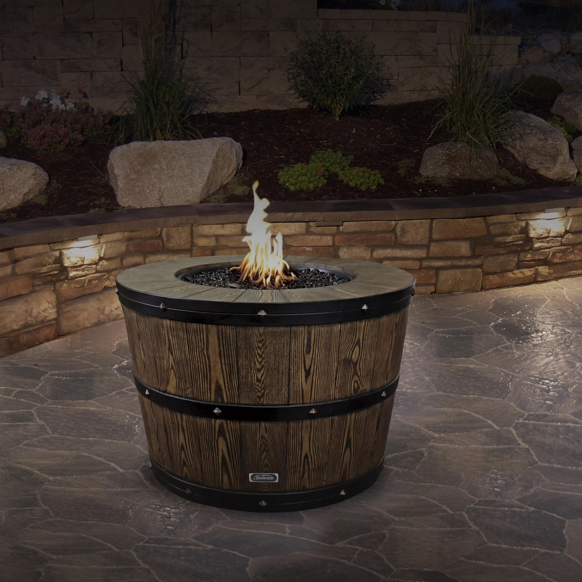 https www wayfair com outdoor pdp sunbeam wine barrel concrete propanenatural gas fire pit tdcq1032 html