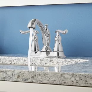 linden centerset bathroom faucet with drain assembly and diamond seal technology