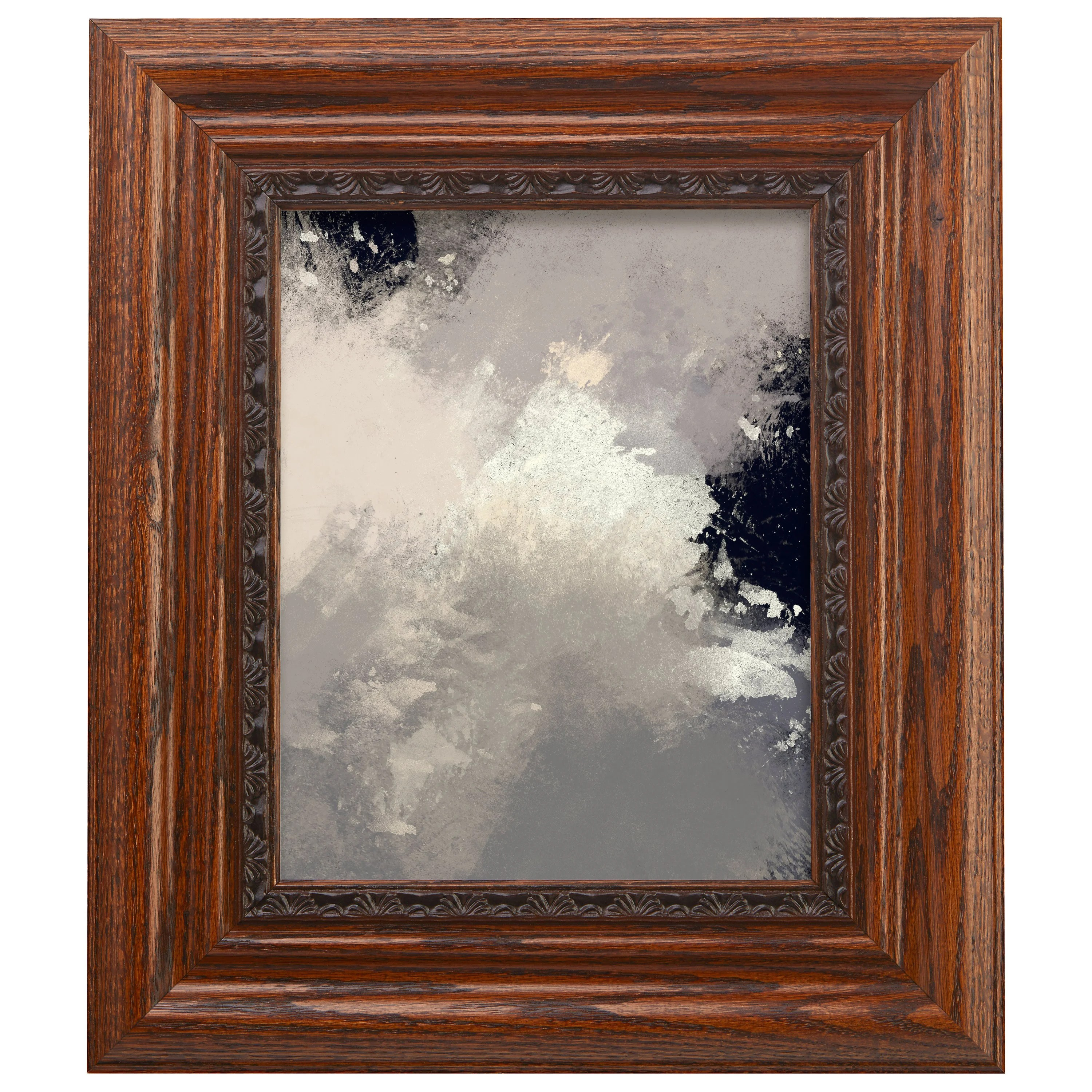 hedberg wide real wood distressed picture frame poster frame