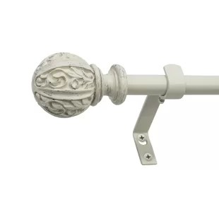 yeldell adjustable 0 63 single curtain rod