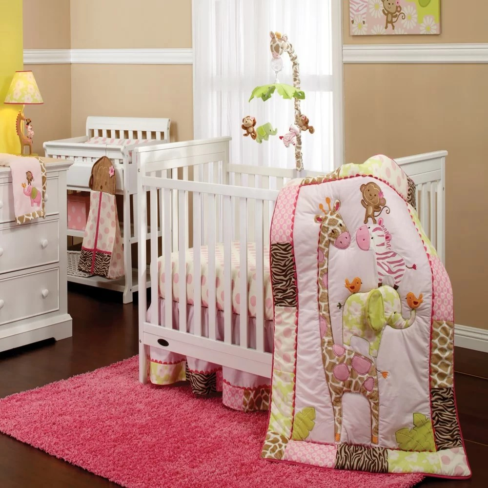 Carter S Jungle Nursery 7 Piece Crib Bedding Set Reviews Wayfair