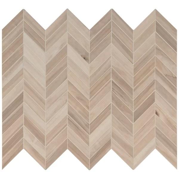 chevron wood look tile