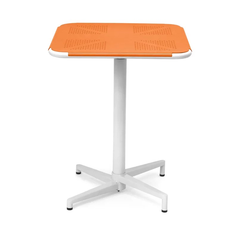 Fly Dining Table Color: Orange / White