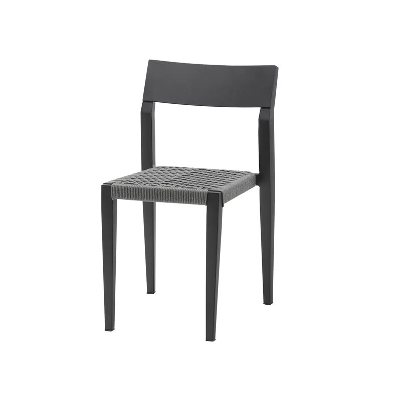 belmont side rope stacking patio dining chair