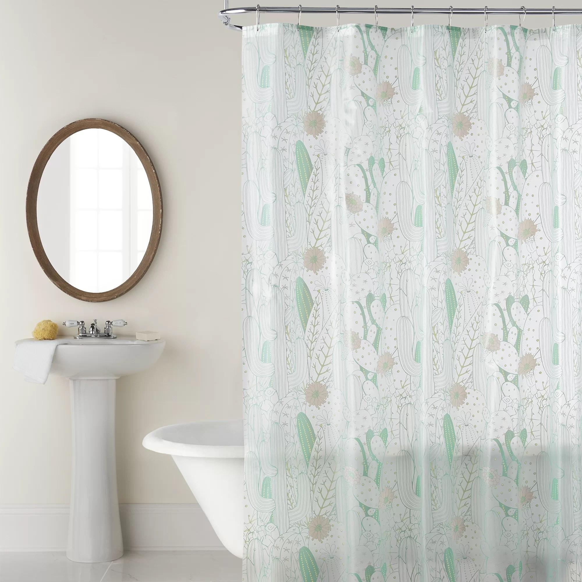 dakota fields hayslett cactus 4 gauge peva shower curtain reviews wayfair