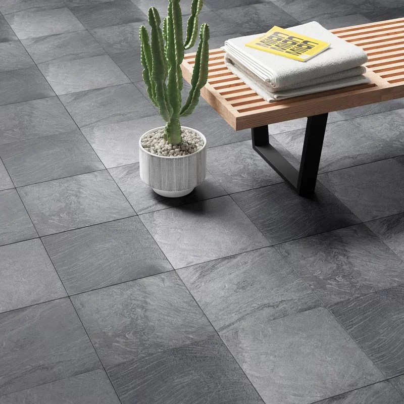 genoa x 12 natural stone field tile in ostrich grey