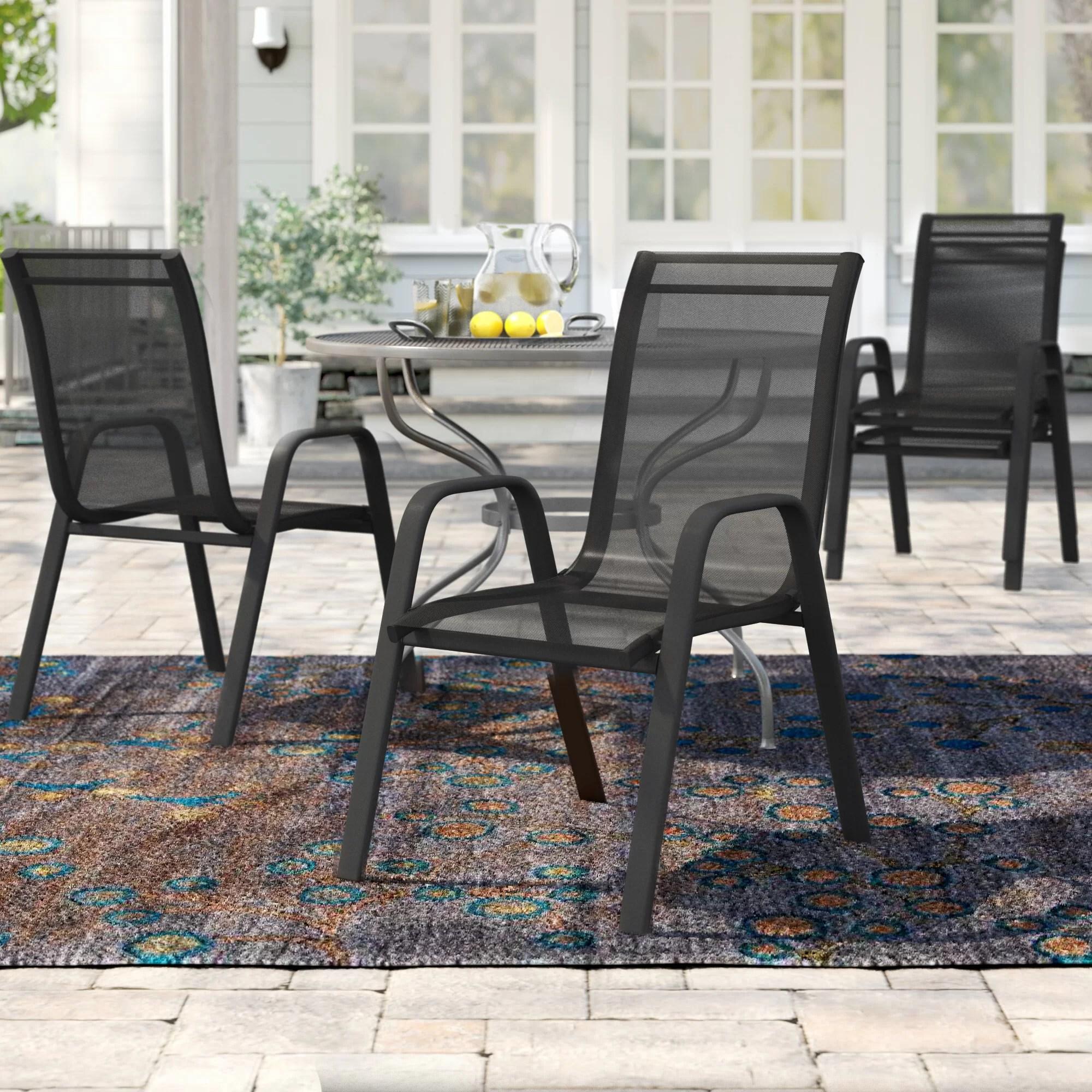 kurz stacking patio dining chair