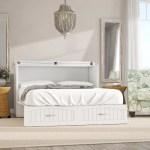 Beachcrest Home Emil Queen Storage Murphy Bed With Mattress Reviews Wayfair Ca