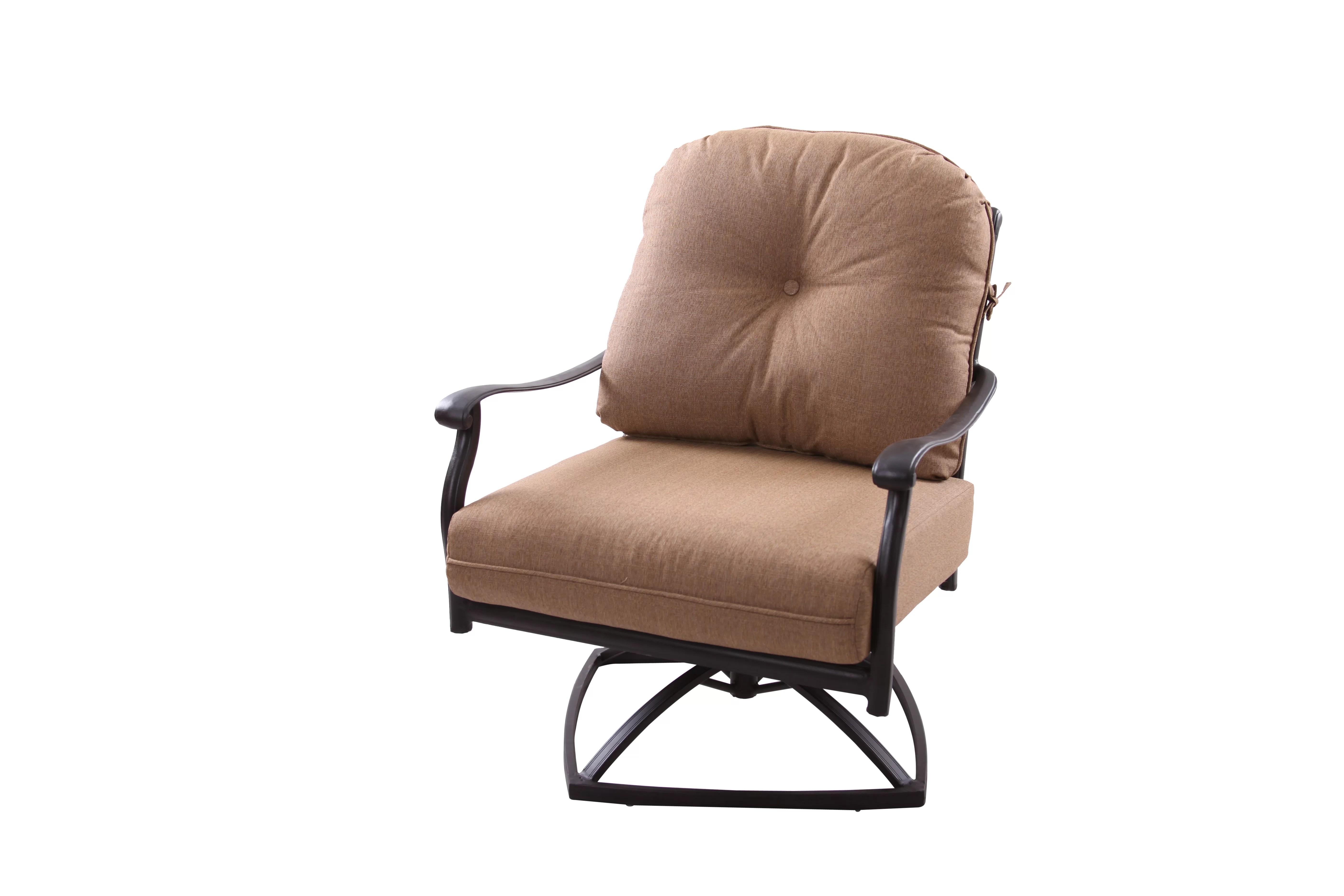 Alcott Hill Lenahan Rocker Swivel Recliner Patio Chair