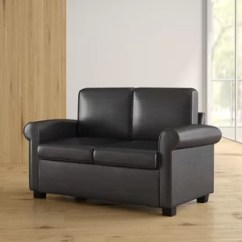 Leather Chair Bed Sleeper Gliding Rocking Cover Faux Sofa Beds You Ll Love Wayfair Ahumada Twin Loveseat