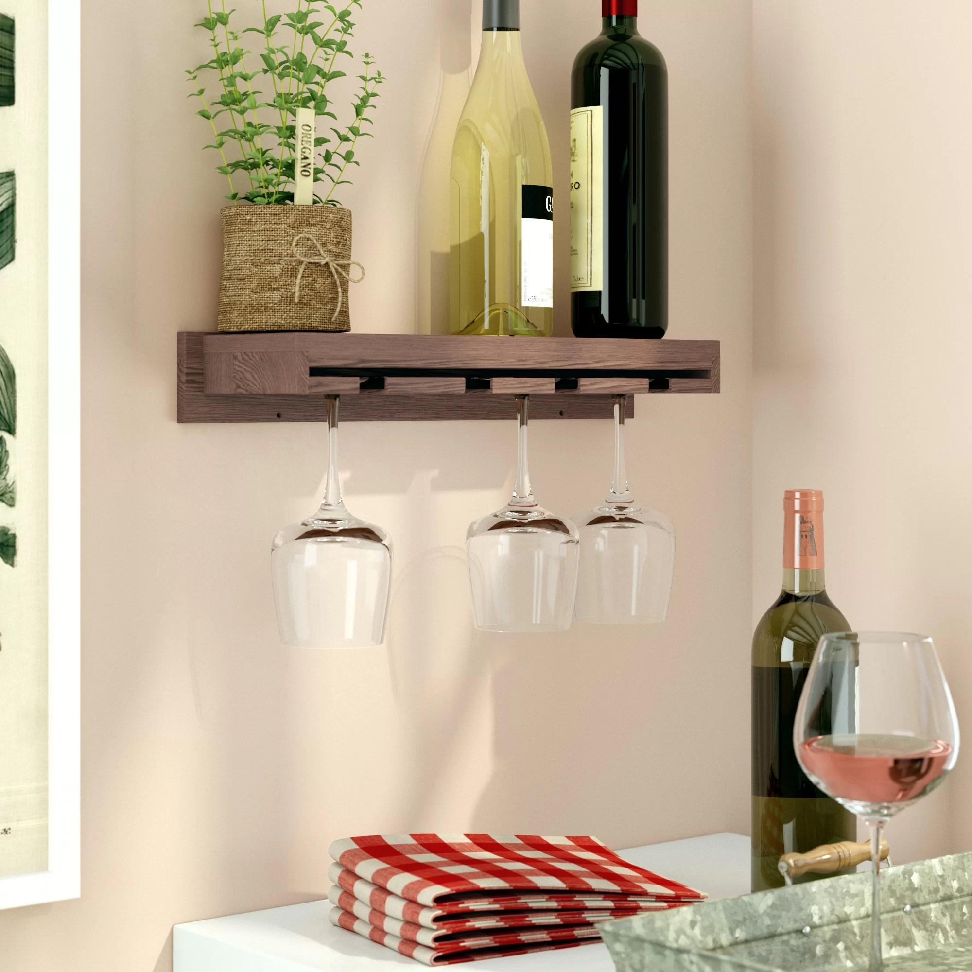 erithon wall mounted wine glass rack