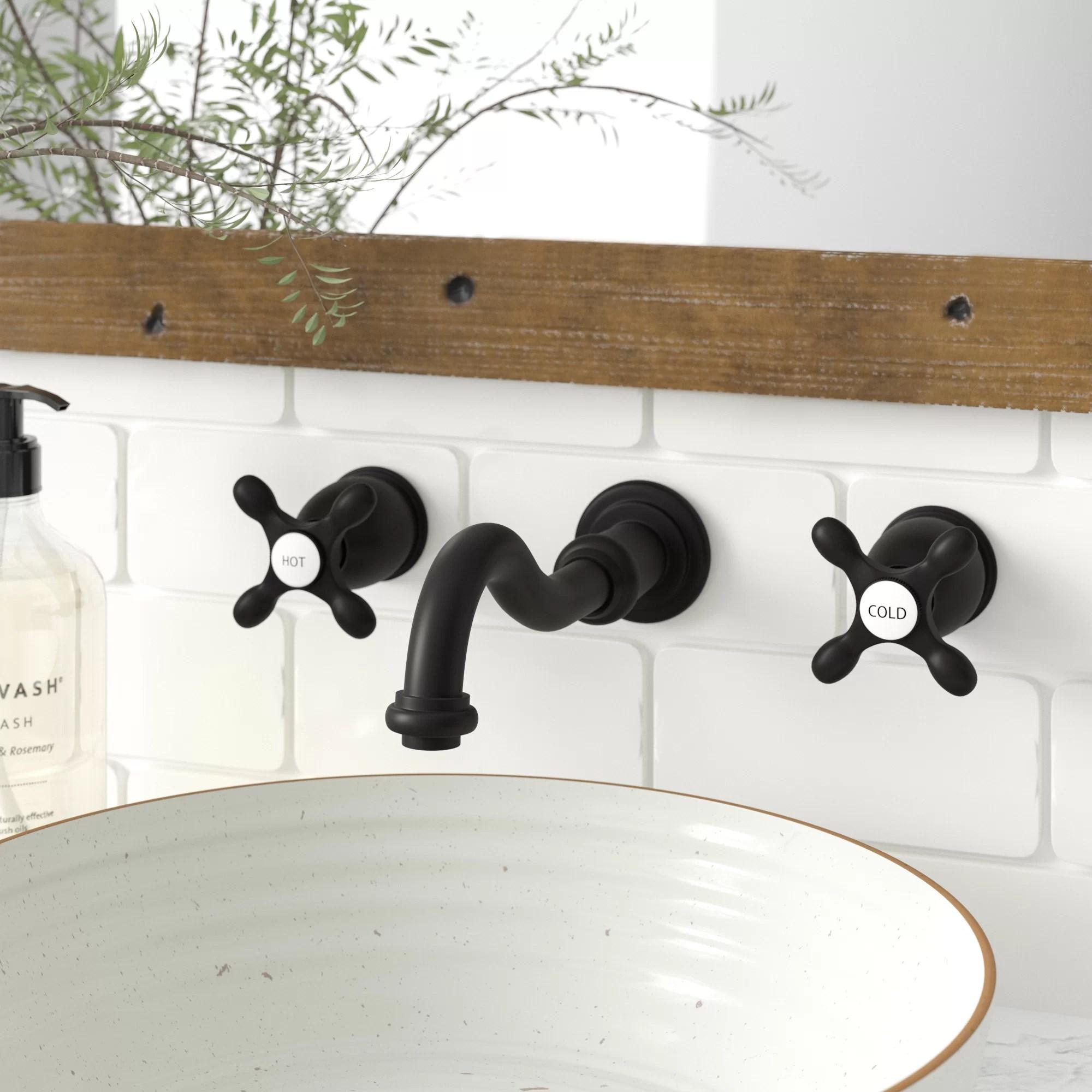vintage wall mounted bathroom faucet