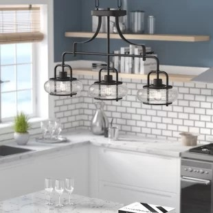 kitchen pendant lights orange chairs lighting joss main braxton 3 light island
