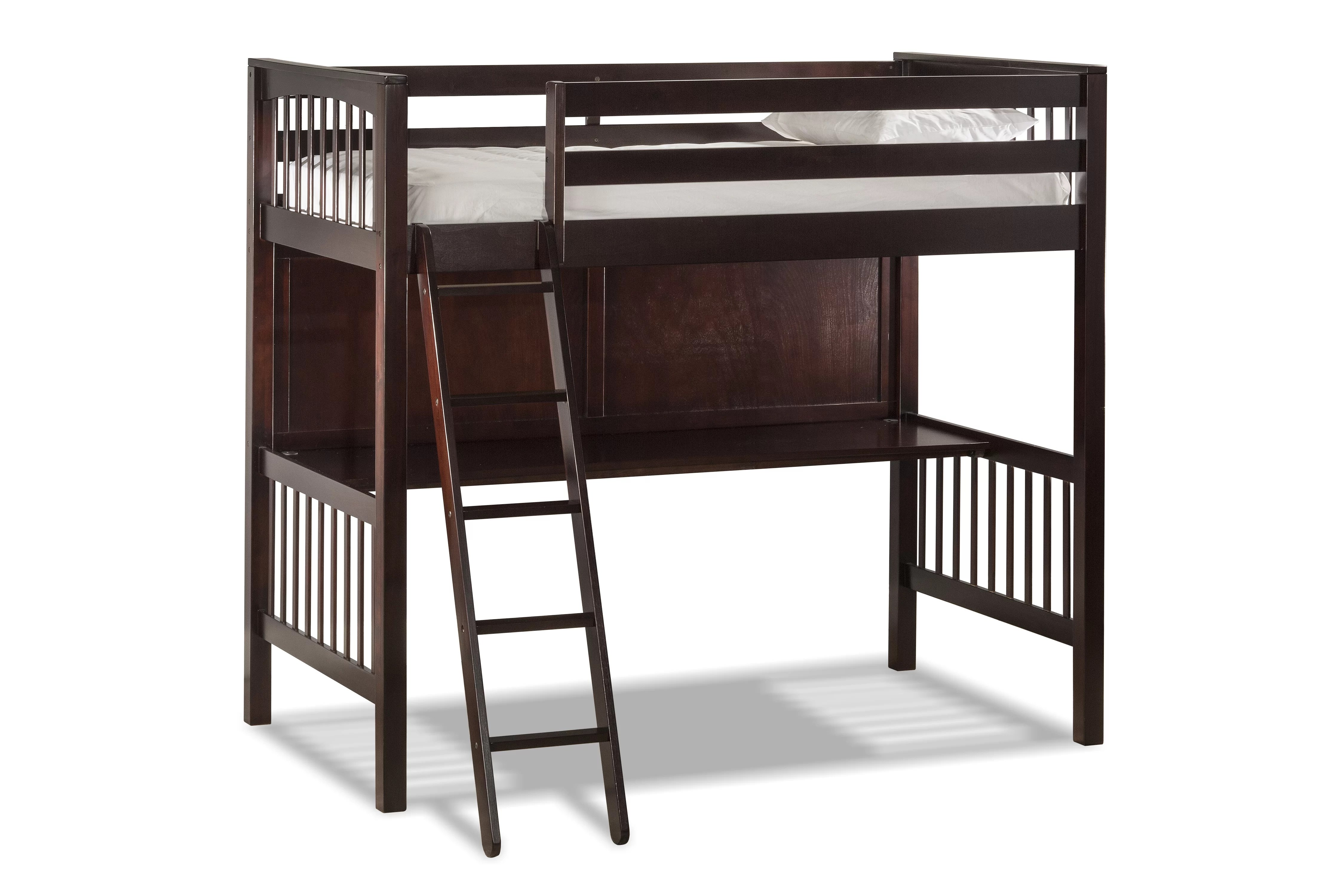 Chair That Turns Into A Twin Bed Abree Twin Loft Bed With Chair