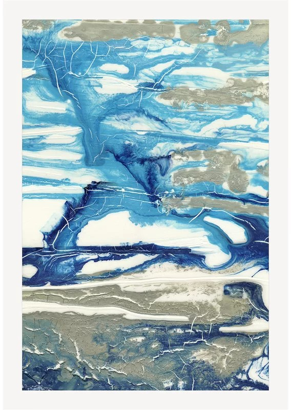 Trends Glacial Stream II Framed Painting Print